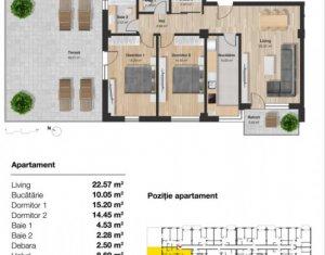 Apartament in zona semicentrala, 135 mp SF totala, 2 parcari, etaj intermediar