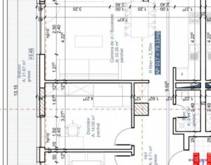 Bloc nou, apartament 3 camere, 79 mp + 32 mp terasa, Plopilor