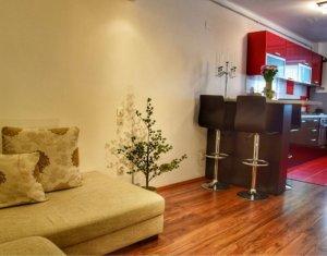 Apartament cu 3 camere, bloc nou, mobilat, zona Edgar Quinet