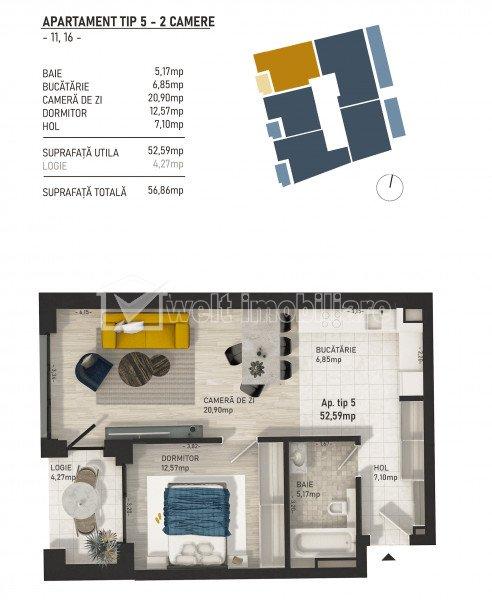 Apartamente de 2 camere, imobil nou in zona centrala, Piata Mihai Viteazu!