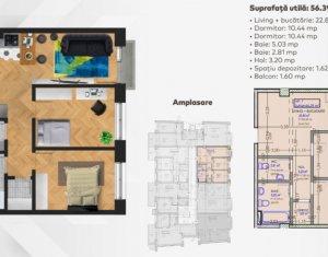 OFERTA de TOP! Apartament 3 camere, balcon, imobil nou in zona CENTRALA