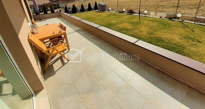Apartament 3 camere, gradina 60 mp, terasa 30 mp, ultrafinisat, Floresti-Teilor