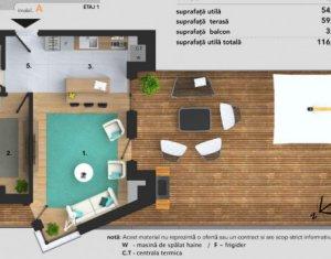 Apartament cu 2 camere, etaj 1, terasa, Buna Ziua