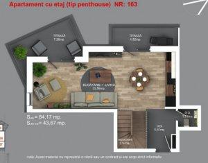 Apartament tip penthouse cu 3 camere, 3 bai, zona Buna Ziua!
