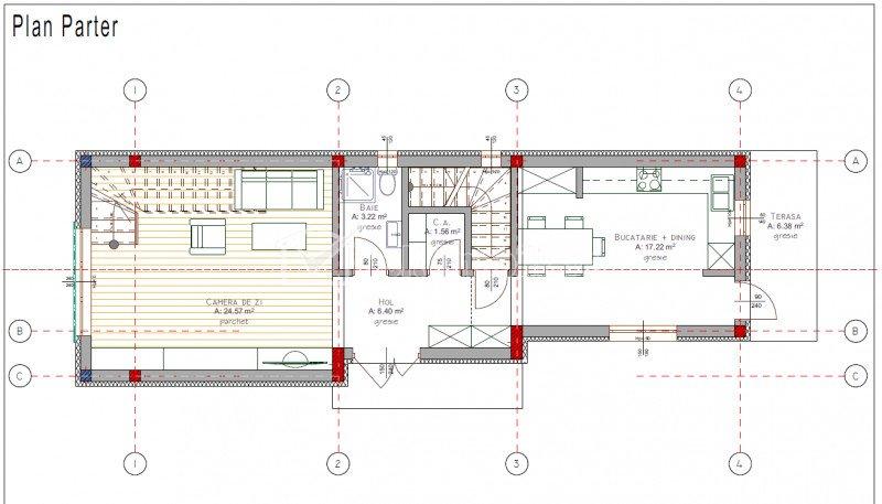 Vanzare casa individuala in Borhanci, 145 mp utili, garaj, teren 500 mp