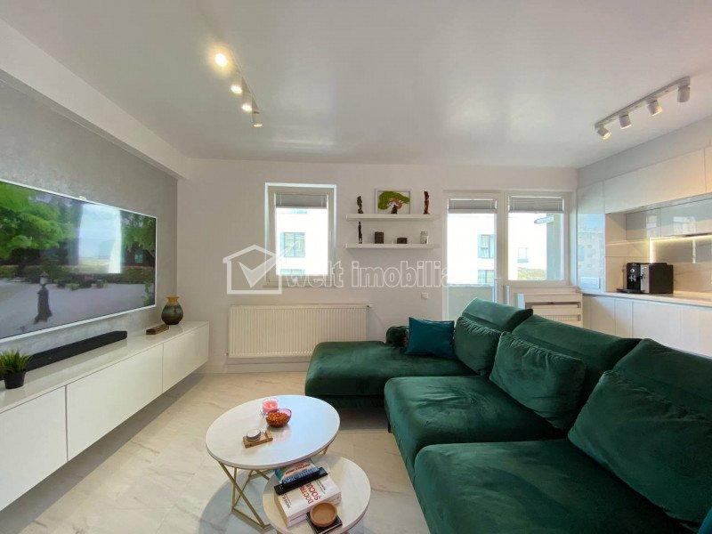 Apartament 2 camere, lux, 56mp, balcon 6mp, etaj 6 din 7, garaj, Iulius Mall