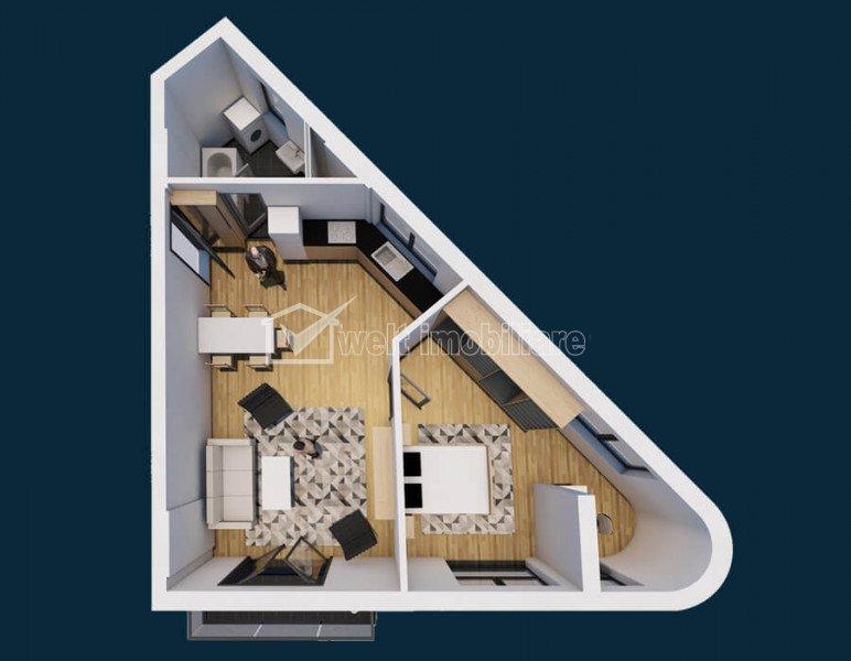 Semicentral- Vanzare apartament 2 camere, etaj 1, bloc nou, zona garii