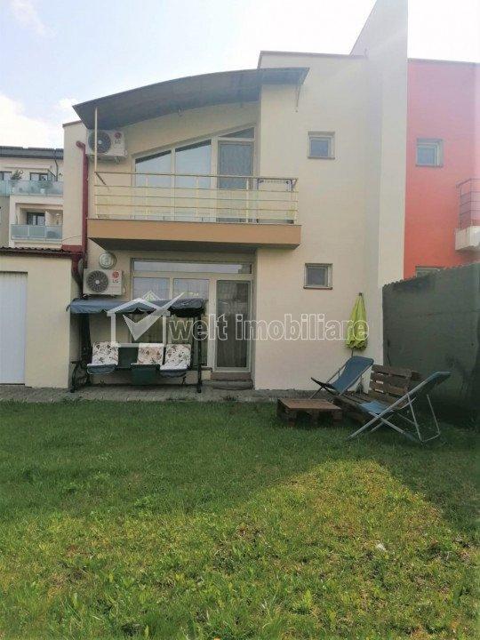 Duplex mobilat, utilat, curte 180 mp, garaj, parcare, zona Buna Ziua