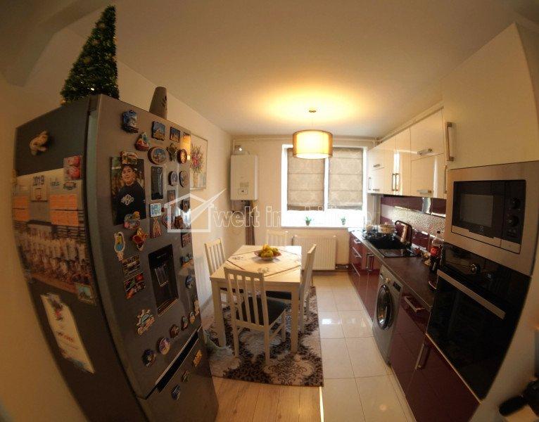 Apartament cu 3 camere, 62 mp, decomandat, etaj intermediar, Unirii, Gheorgheni