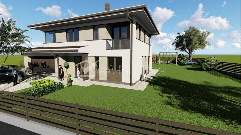 Proiect deosebit - casa individuala, 6 camere, teren 700 mp, garaj 2 locuri