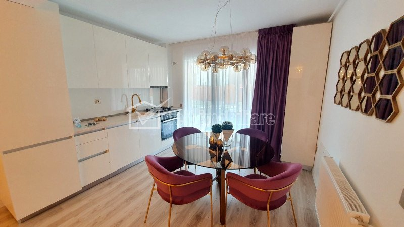 Apartament ultrafinisat, complet nou, gradina, constructie 2021, strada Cetatii