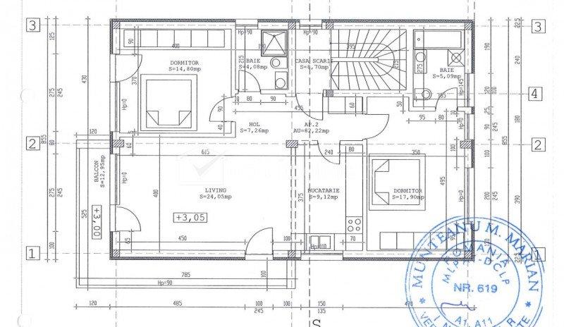 Duplex 3 camere, 82 mp utili, curte privata 63 mp, 2 garaje, boxa