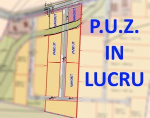 Teren de vanzare 1382 mp, PUZ in lucru, Borhanci