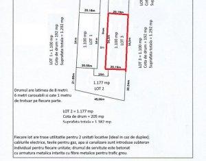 Teren de vanzare 1292 mp, PUZ in lucru, Borhanci