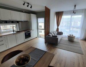 Apartament 2 camere, ultrafinisat, mobilat si utilat complet, loc de parcare