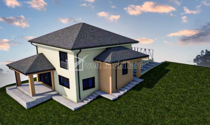 Vila individuala, 140 mp, 4 camere, teren 600 mp, zona Centrala, Chinteni