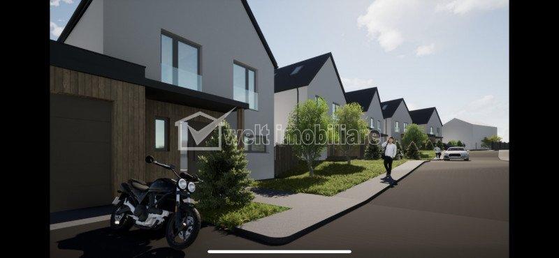 Vanzare casa noua in Feleacu, 190 mp SU, teren 1000 mp, panorama spre oras