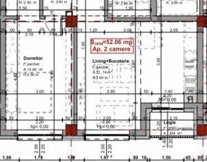 Bloc nou! Apartament 2 camere, 52 mp, Marasti