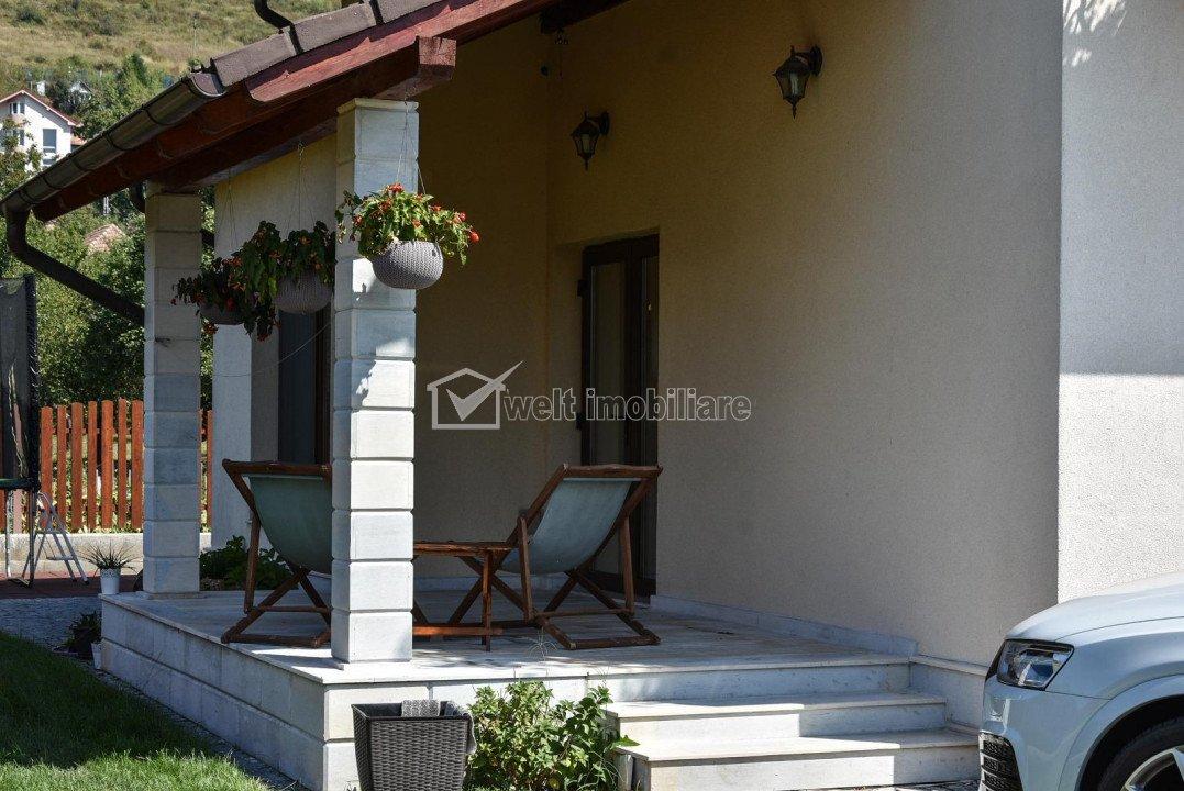 Vila individuala, lux, teren 800 mp, la cheie, garaj, zona Baciu, Cluj