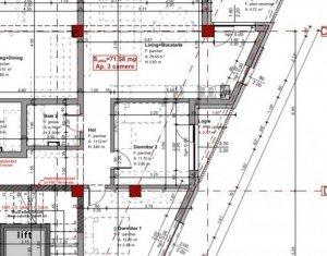 Bloc nou - apartament 3 camere, 72 mp, Marasti