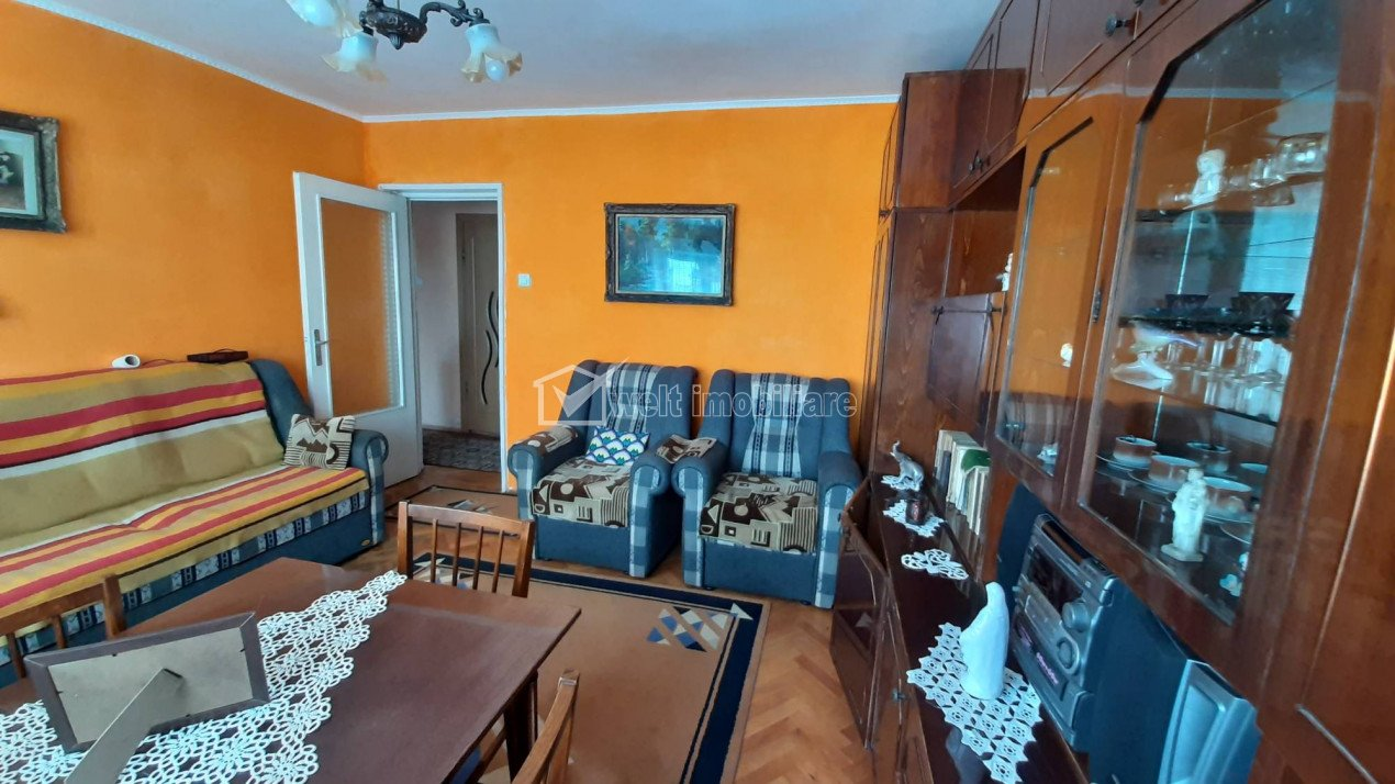 Manastur, apartament de 2 camere, centrala proprie, decomandat