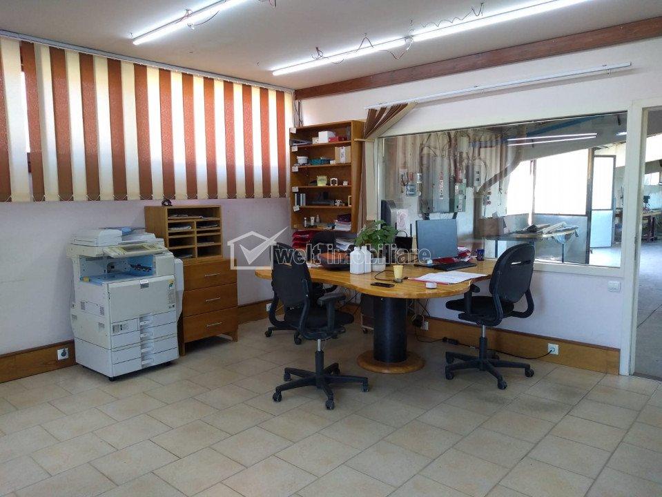 Hala productie 903mp, curte 1729mp, utilitati, loc. Sancraiu Cluj