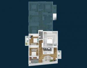Centru - Apartament 3 camere, 2 bai, 2 balcoane, bloc nou