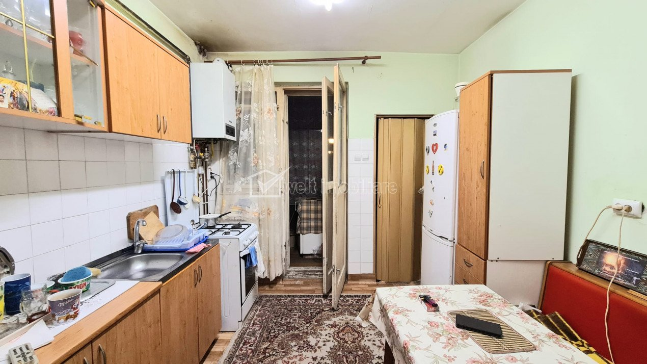 Apartament 3 camere, 84 mp, 2 balcoane, parter, Plopilor