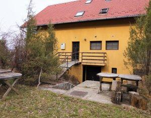 Vanzare Pensiune deosebita de 600mp, cu 1,64ha teren si lac, in zona Gilau, Cluj