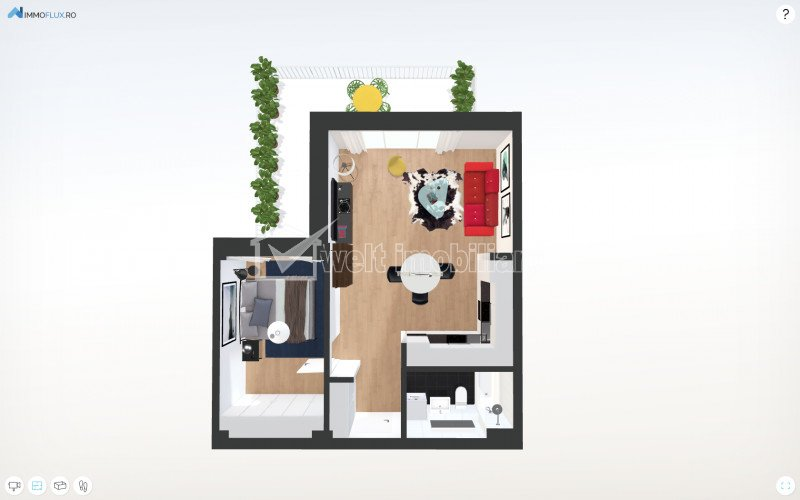Apartamente 2 camere, bloc tip vila, terasa 17.55mp, la 3 minute de Gheorgheni