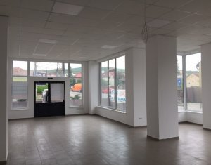 Spatiu comercial 201mp open space, finisat vitrina si vad bun, zona Garii