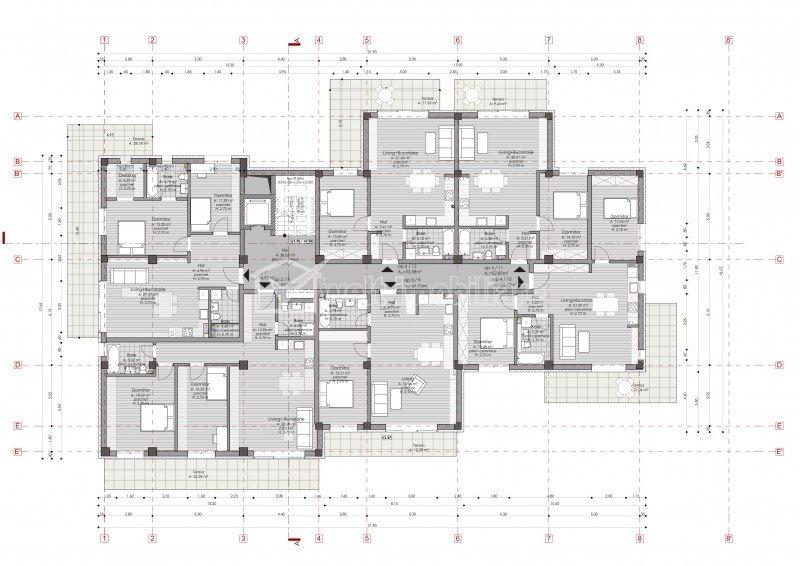 2 camere, terasa 10 mp, la 3 minute de Gheorgheni, zona Borhanci