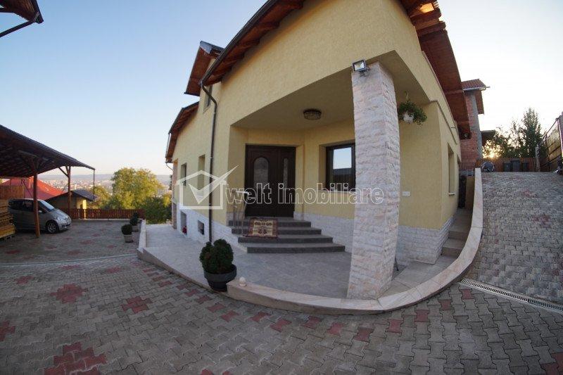 Casa individuala - panorama  frumoasa, 1290mp teren, Dambul Rotund