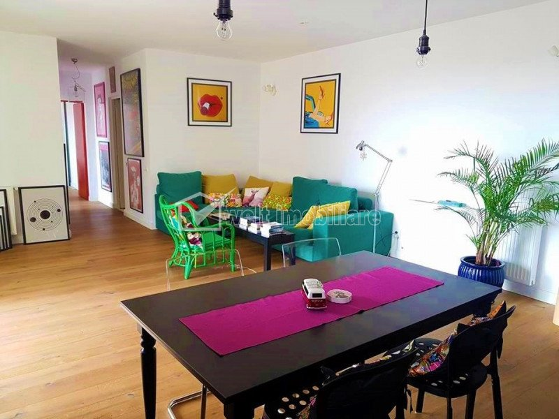 Apartament de lux, 3 camere, cladirea Platinia, terasa 25 mp, mobilat utilat !