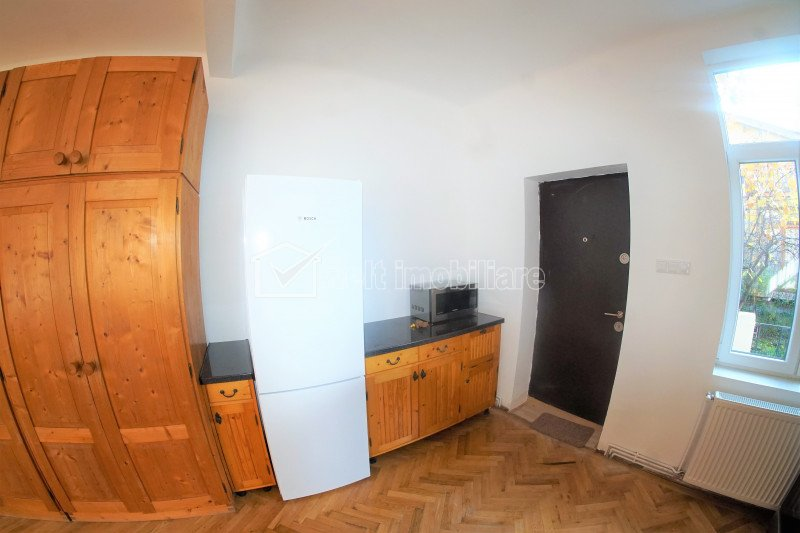 Apartament tip studio, luminos si spatios, in casa cu terasa si gradina, Centru