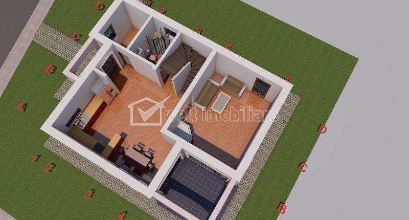 Vanzare casa individuala, Borhanci, 120mp, cu teren 411 mp, zona linistita