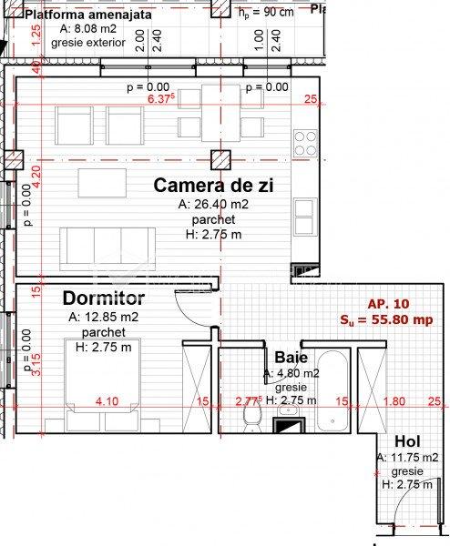 Vanzare apartament de 2 camere, finisat lux, garaj, CF