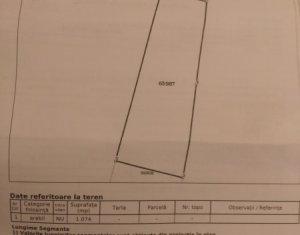 Teren extravilan 1074 mp, ideal pentru o casa, zona Stejarului