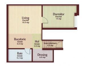 Apartament 2 camere semifnisat, cu CF,  zona Florilor