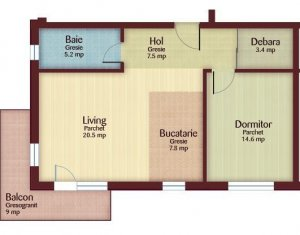 Apartament 2 camere, 59 mp, in Floresti, zona Florilor