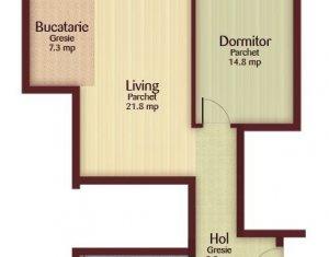 Apartament 2 camere 62,5 mp, imobil cu CF, zona Florilor