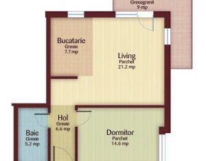 Apartament 2 camere 55 mp, CF, se accepta credit, zona Florilor